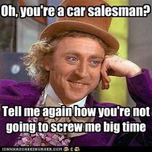 I dislike purchasing cars