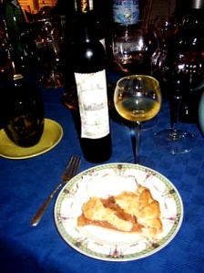 pie and wine