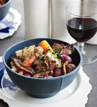 stew and wine